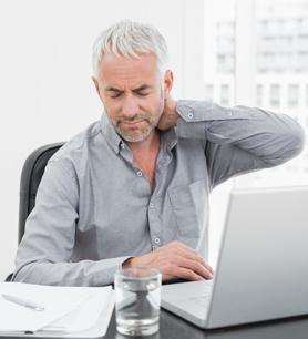 Individual DSE Assessment - Man with Bad Posture at Work