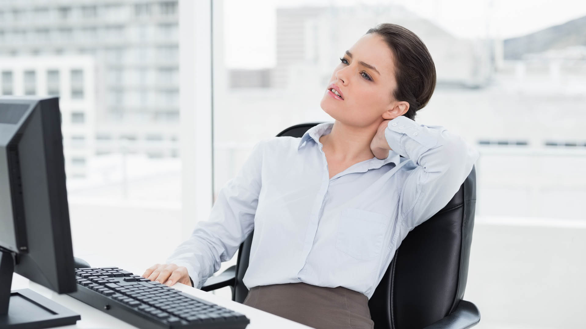 neck pain from sitting